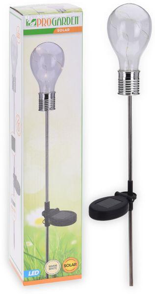 """LED Solar-Gartenleuchte """"Glühbirne"""", 750 mm, Edelstahl"""
