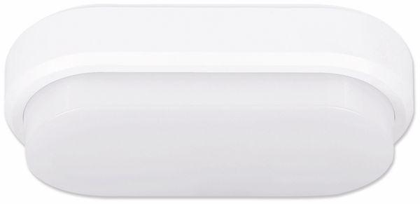 LED-Wand- und Deckenleuchte MÜLLER LICHT 20300538, 9W, 650 lm, 4000K, IP54, Bewegungsmelder, oval
