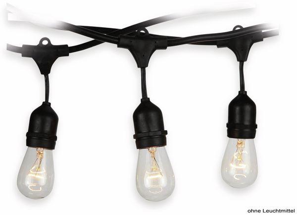 Lichterkette V-TAC 713, 15 Fassungen, E27, 230V~, IP54, 15m, verlängerbar