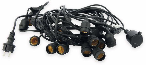 Lichterkette V-TAC 713, 15 Fassungen, E27, 230V~, IP54, 15m, verlängerbar - Produktbild 2