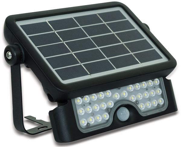 LED-Solar-Außenleuchte LUCECO, 5 W, 550 lm, 4000 K, schwarz