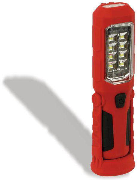LED-Arbeitsleuchte, L006D, 0,5 W, rot/schwarz, Li-Ion Akku