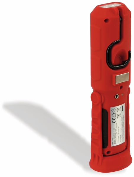 LED-Arbeitsleuchte, L006D, 0,5 W, rot/schwarz, Li-Ion Akku - Produktbild 2