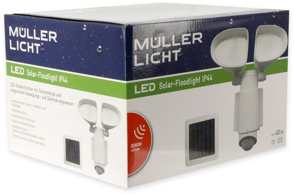 Solar LED-Fluter MÜLLER LICHT, mit Bewegungsmelder, 6 W, 400 lm, 6500 K, weiß - Produktbild 3