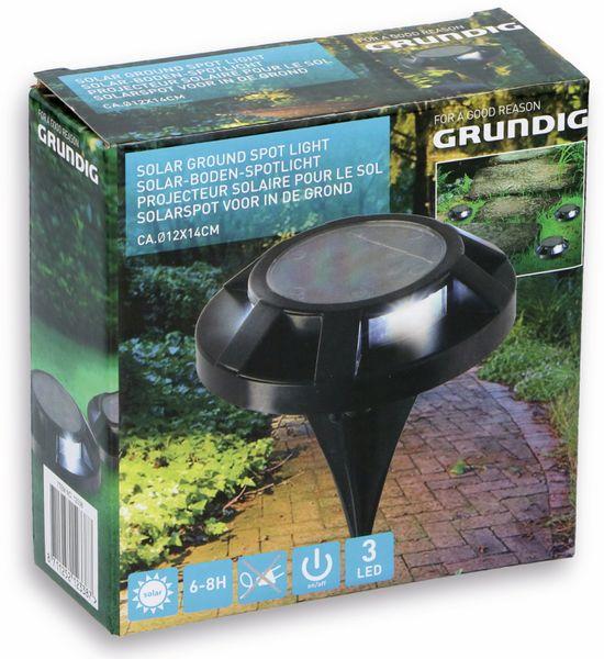 LED Solar-Bodenleuchte GRUNDIG, 120 mm, schwarz - Produktbild 2