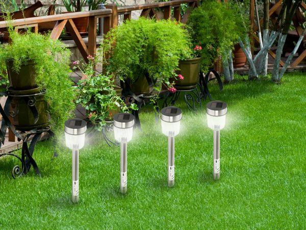 Solar-Gartenleuchte GRUNDIG, Edelstahl, 365mm, 10 Stück - Produktbild 2