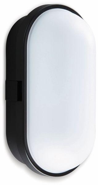 LED-Oval Leuchte TOLEDO, 10 W, 700 lm, 4000 K, IP 65, schwarz