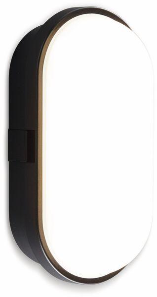 LED-Oval Leuchte TOLEDO, 10 W, 700 lm, 4000 K, IP 65, schwarz - Produktbild 2