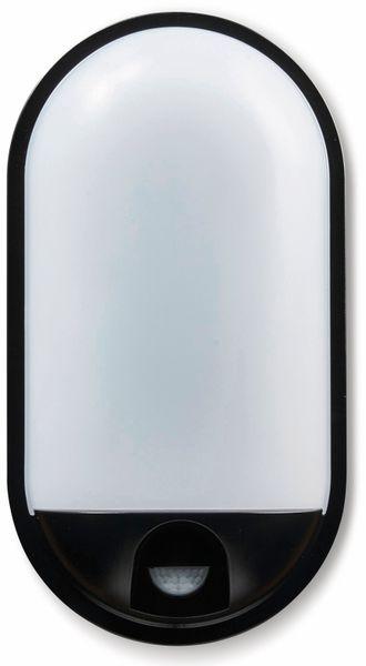LED-Oval Leuchte TOLEDO, 20 W, 1400 lm, 4000 K, IP 65, Bewegungsmelder schwarz