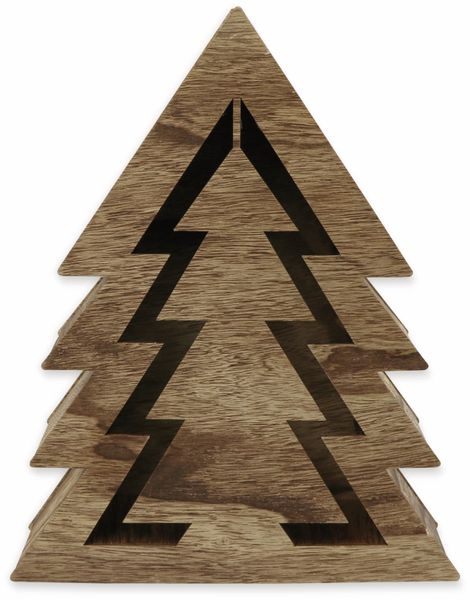 Deco-Holz Baum mit 10 LEDs, TR-TT-01, dunkelbraun, B-Ware