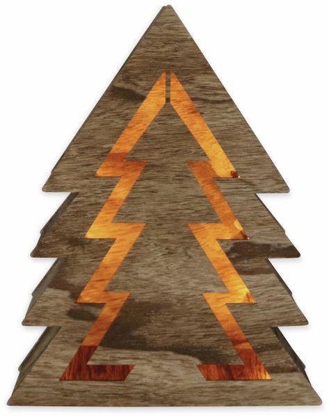 Deco-Holz Baum mit 10 LEDs, TR-TT-01, dunkelbraun, B-Ware - Produktbild 2