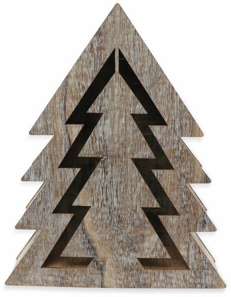 Deco-Holz Baum mit 10 LEDs, GT-TT-02, weißbraun, B-Ware