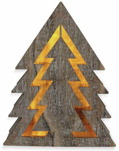 Deco-Holz Baum mit 10 LEDs, GT-TT-02, weißbraun, B-Ware - Produktbild 2