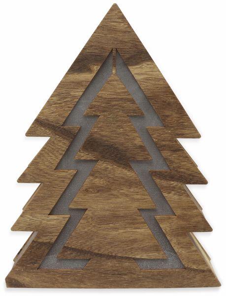 Deco-Holz Baum mit 10 LEDs, TR-TFF-01, dunkelbraun, B-Ware