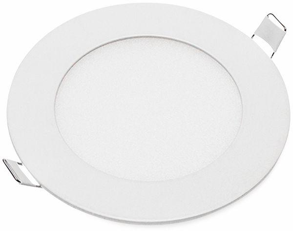 LED-Einbauleuchte OPTONICA 2601, 6 W, 440 lm, 6000K,rund, 95 RA, weiß