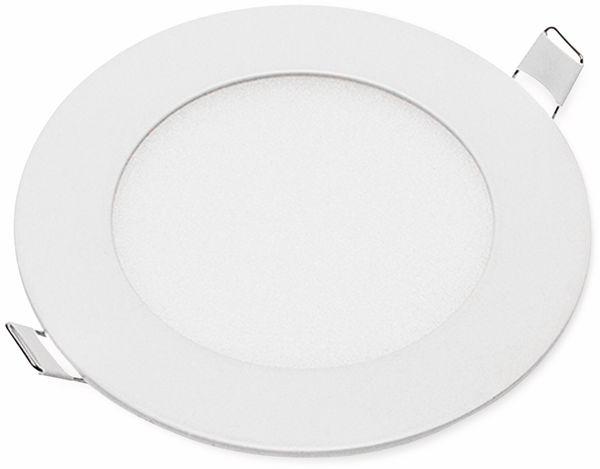 LED-Einbauleuchte OPTONICA 2602, 6 W, 440 lm, 4200K, rund, 95 RA, weiß