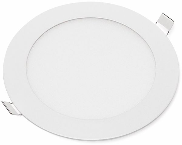 LED-Einbauleuchte OPTONICA 2604, 12 W, 1000 lm, 6000K, rund, 95 RA, weiß