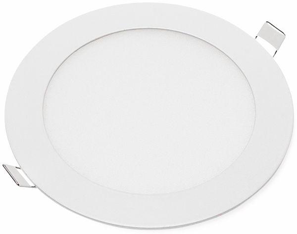 LED-Einbauleuchte OPTONICA 2606 12 W, 1000 lm, 2700K, rund, 95 RA, weiß