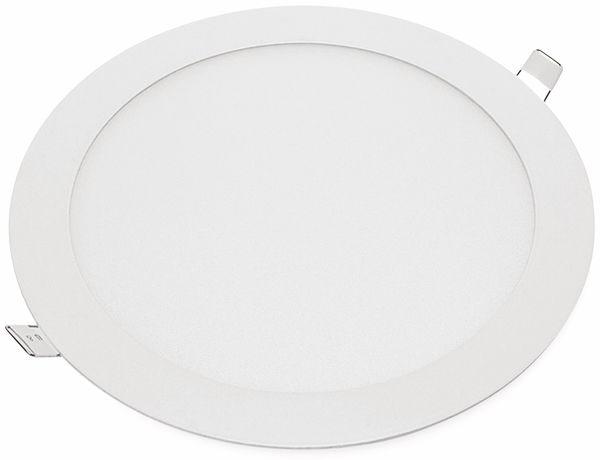 LED-Einbauleuchte OPTONICA 2610 18 W, 1500 lm, 2700K, rund, 95 RA, weiß