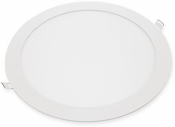 LED-Einbauleuchte OPTONICA 2612 24 W, 2010 lm, 4200K, rund, 95 RA, weiß