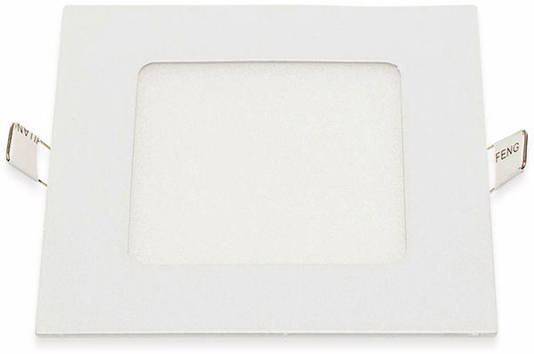 LED-Einbauleuchte OPTONICA 2614, 6 W, 440 lm, 6000K, eckig, 95 RA, weiß