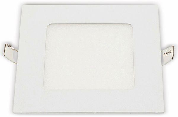 LED-Einbauleuchte OPTONICA 2616, 6 W, 440 lm, 2700K, eckig, 95 RA, weiß