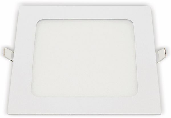 LED-Einbauleuchte OPTONICA 2618, 12 W, 1000 lm, 4200K, eckig, 95 RA, weiß