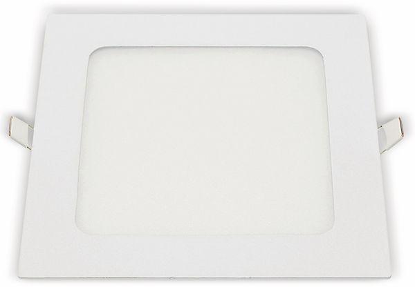 LED-Einbauleuchte OPTONICA 2617, 12 W, 1000 lm, 2700K, eckig, 95 RA, weiß