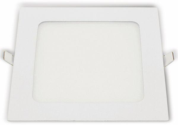 LED-Einbauleuchte OPTONICA 2630, 18 W, 1500 lm, 6000K, eckig, 95 RA, weiß