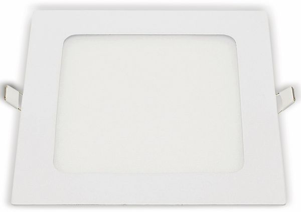 LED-Einbauleuchte OPTONICA 2631, 18 W, 1500 lm, 4200K, eckig, 95 RA, weiß