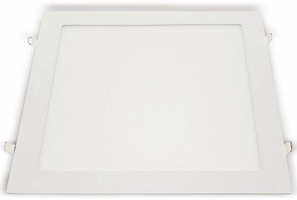 LED-Einbauleuchte OPTONICA 2642, 24 W, 2010 lm, 6000K, eckig, 95 RA, weiß