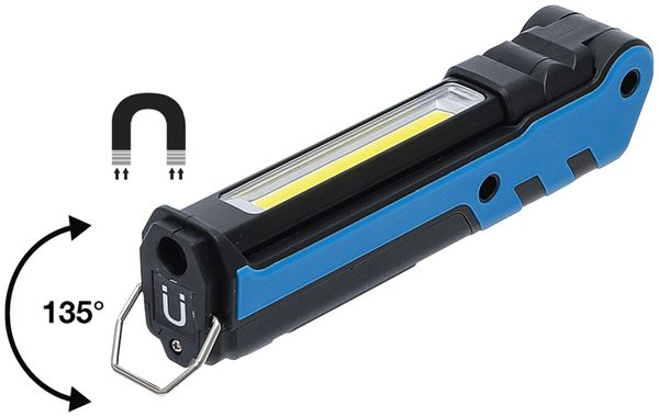 LED-Knicklampe BGS 85334, 3,7V, 2000 mAh, klappbar, blau/schwarz - Produktbild 4