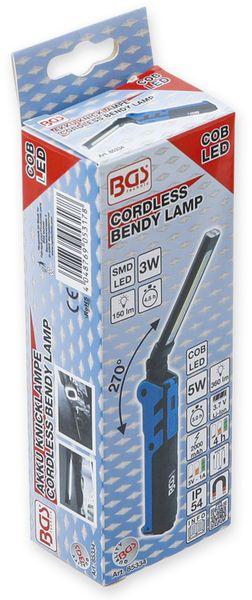 LED-Knicklampe BGS 85334, 3,7V, 2000 mAh, klappbar, blau/schwarz - Produktbild 6