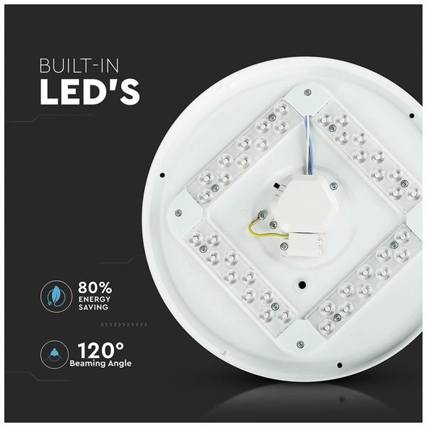 LED-Deckenleuchte VT-8418-S(7604), 18 W, 1080 lm, 3000…6400 K, Sterneneffekt - Produktbild 3