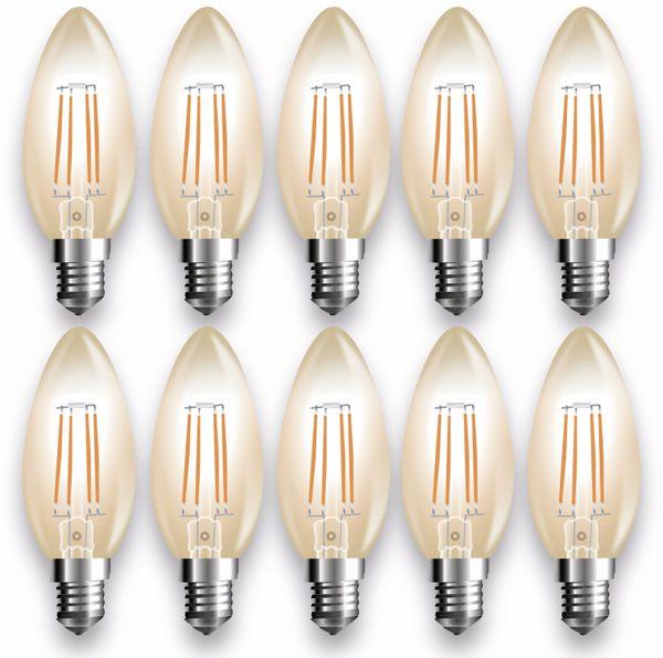 LED-Lampe V-TAC Amber, VT-1955(7113), E14, EEK: A+, 4 W, 350 lm, 2200 K, 10 Stück