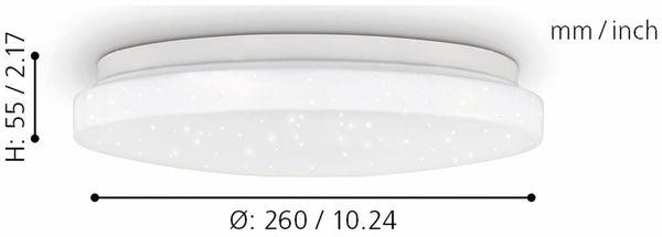 LED-Deckenleuchte EGLO POGLIOLA-S, 12W, 1300 lm, 4000K, 240 mm, Kristalleffekt - Produktbild 7