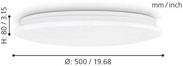 LED-Deckenleuchte EGLO POGLIOLA-S, 36W, 3550 lm, 4000K, 490 mm, Kristalleffekt - Produktbild 7