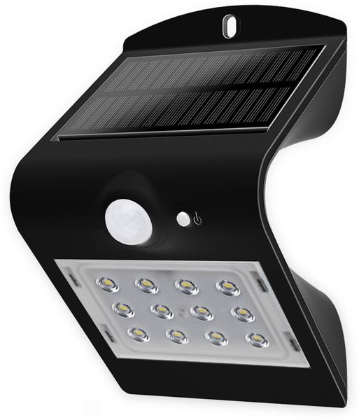 Solar-LED Wandleuchte BLULAXA 48873 mit Sensor, 1,5W, schwarz