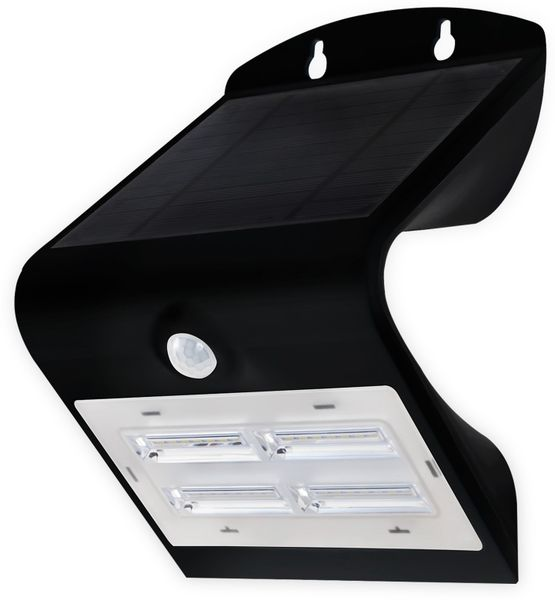 Solar-LED Wandleuchte BLULAXA 48636 mit Sensor, 3,2 W, schwarz