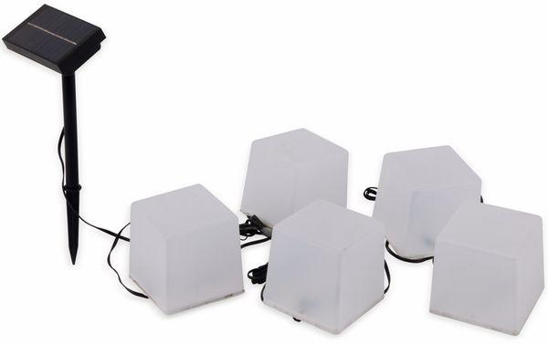 Solar-Bodenlichterkette, 5 Würfel, RGB+WW, Bastelware