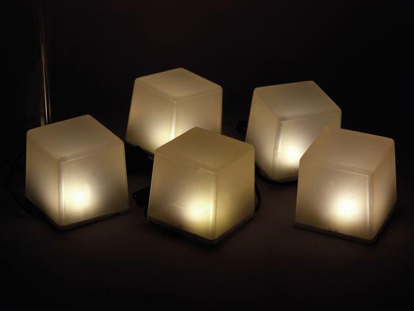 Solar-Bodenlichterkette, 5 Würfel, RGB+WW, Bastelware - Produktbild 3