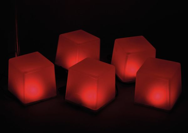 Solar-Bodenlichterkette, 5 Würfel, RGB+WW, Bastelware - Produktbild 4