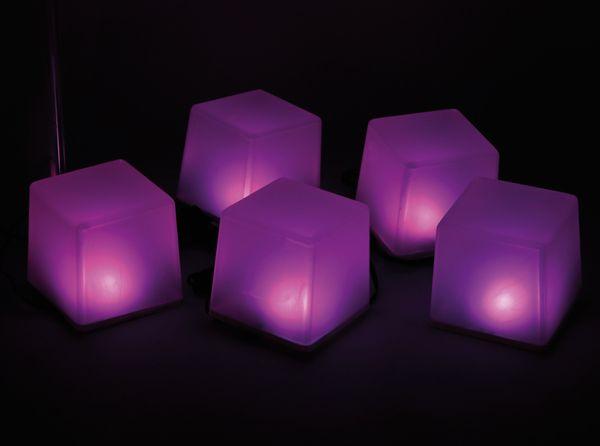 Solar-Bodenlichterkette, 5 Würfel, RGB+WW, Bastelware - Produktbild 5