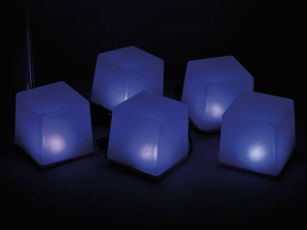 Solar-Bodenlichterkette, 5 Würfel, RGB+WW, Bastelware - Produktbild 6