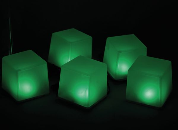 Solar-Bodenlichterkette, 5 Würfel, RGB+WW, Bastelware - Produktbild 7