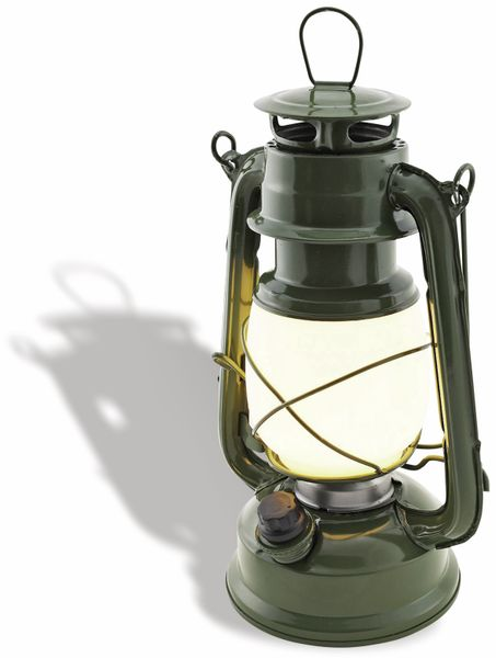 "LED Petroleum-Laterne ""CT-CL Army"", dimmbar, Batteriebetrieb, grün - Produktbild 2"