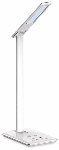 LED-Schreibtischleuchte VT-7405 5W, Wireless Lader,2700K-6500K, weiß, 5V-, dimmbar