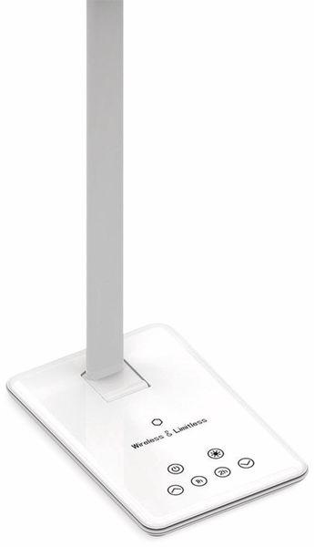 LED-Schreibtischleuchte VT-7405 5W, Wireless Lader,2700K-6500K, weiß, 5V-, dimmbar - Produktbild 3