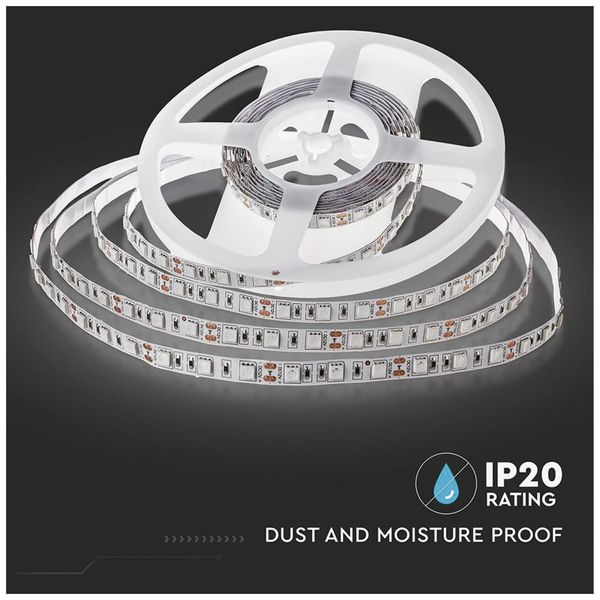 LED-Strip VT-5050 (2126), 300 LEDs, 5 m, 12V, 6000 K - Produktbild 4