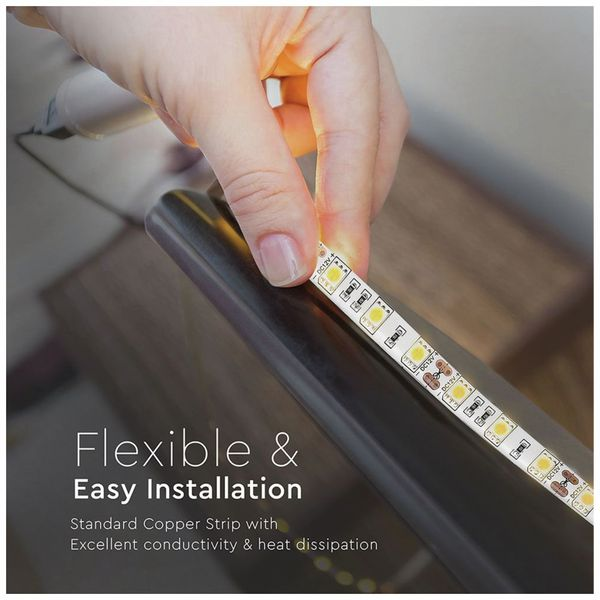LED-Strip VT-5050 (2149), 300 LEDs, 5 m, 12V, IP 65, 3000 K - Produktbild 8